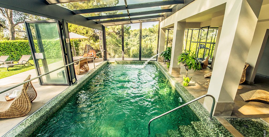Take a dip in the spa pool and indulge in a massage
