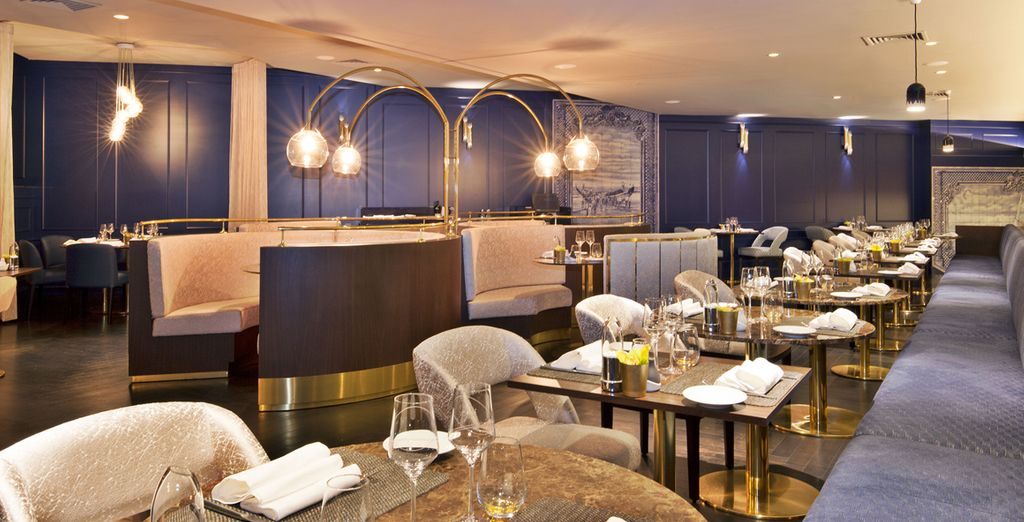 Sample Portugal's gourmet heritage at the hotel's cosmopolitan restaurant