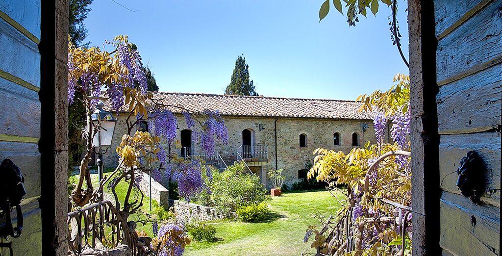 This is the beautiful Castel Porrona Relais....