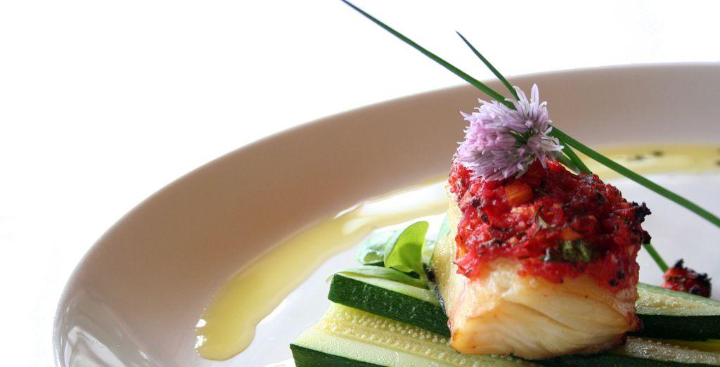 Dine on delicious Mediterranean fare...