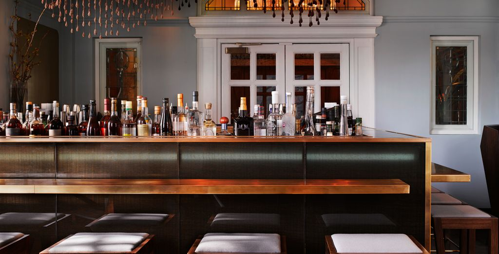 After a day out, head to the stylish bar