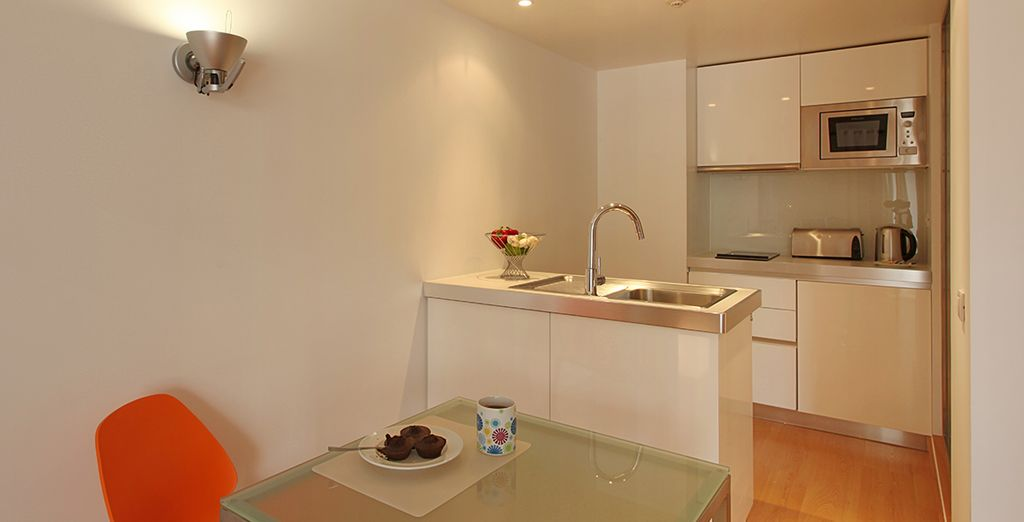 Equipped with a kitchenette...