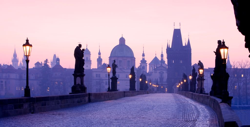 You are just a 15-20 minute walk from the Charles Bridge - Red & Blue Design Hotel Prague 4* Prague