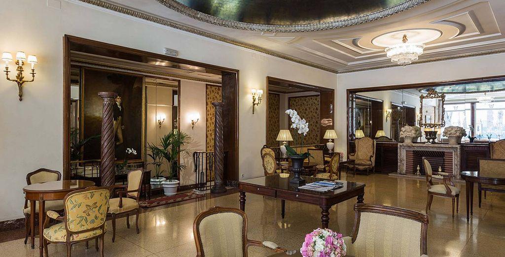 A sleek and modern hotel