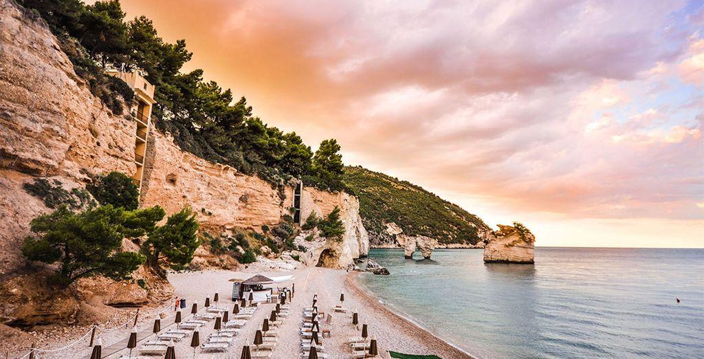 Dreamy beaches in a beautiful landscape