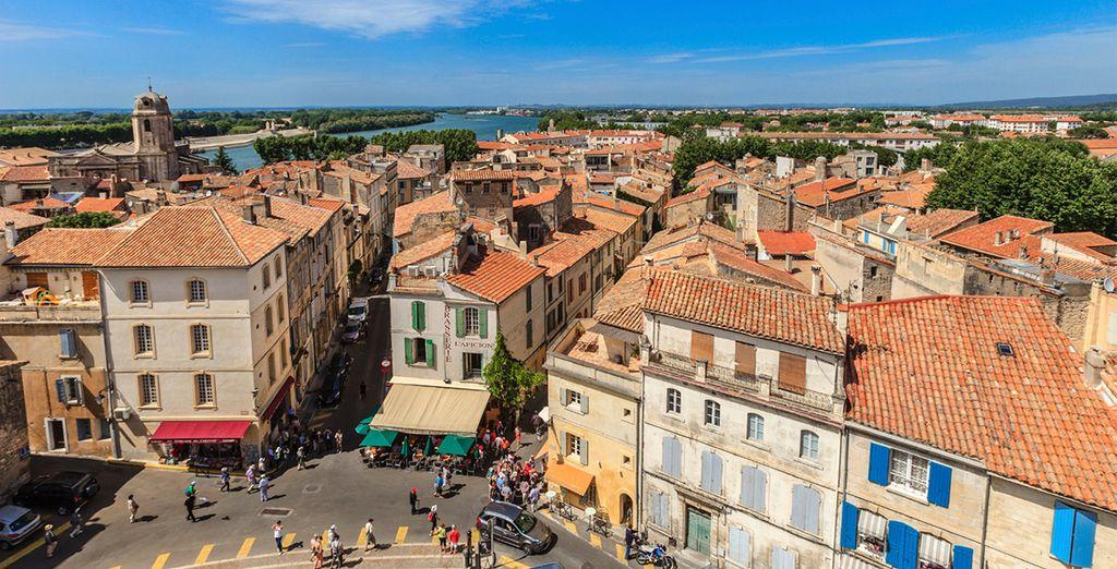 To historic Arles, a 30 min drive away