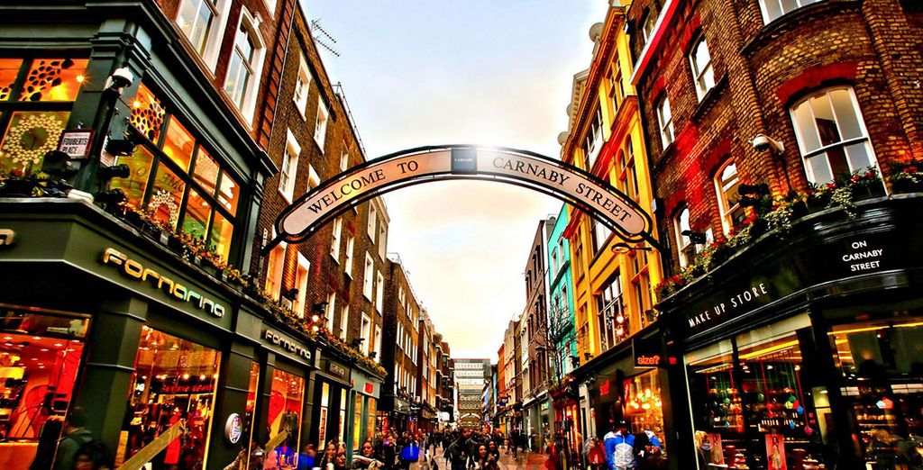 Or head to the nearby Carnaby Street for a characterful shopping spree