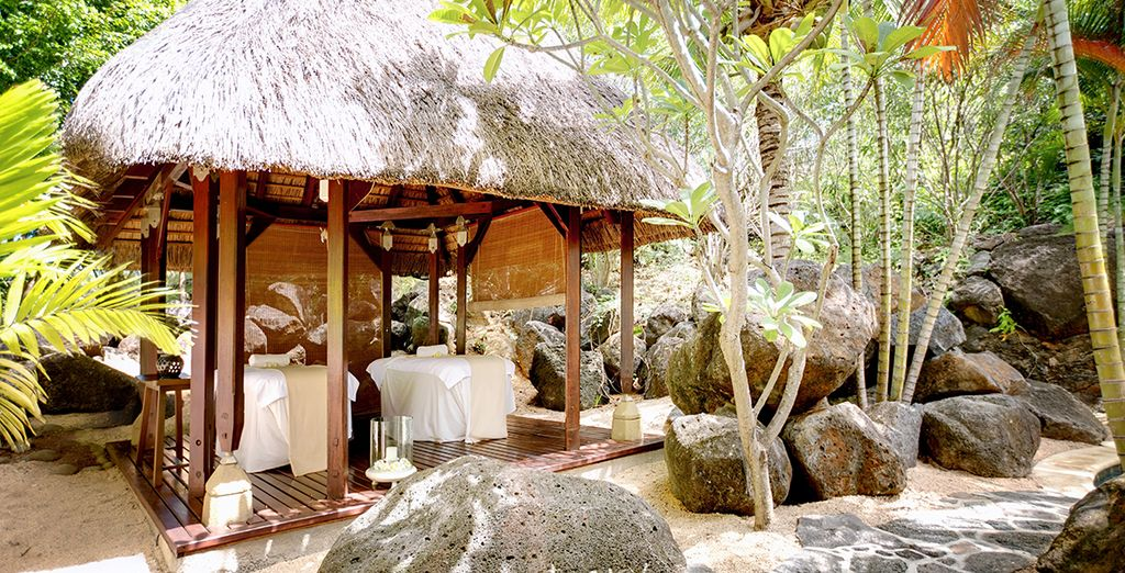 Indulge in a massage, surrounded by the sounds of nature...