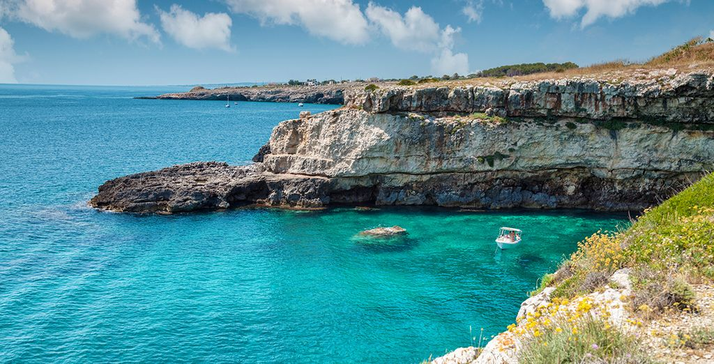 Add our car hire and explore this beautiful coastline