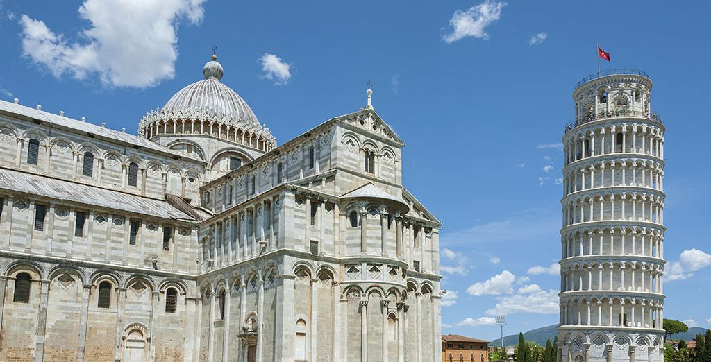 In half an hour you can reach Pisa