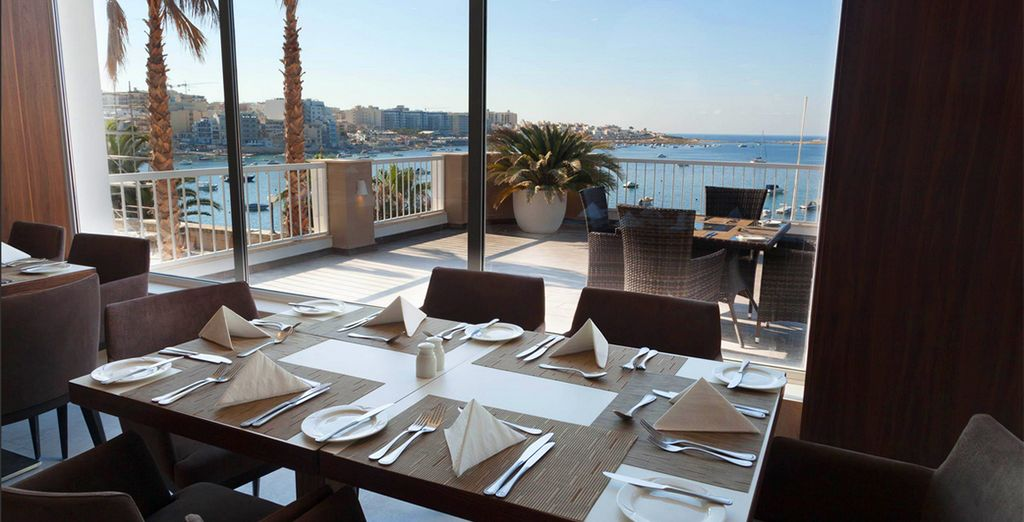 Wake up and dine on a delicious breakfast with this view
