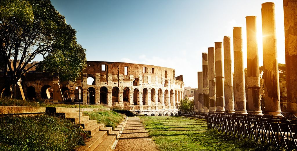 Admire the remains of antiquity....