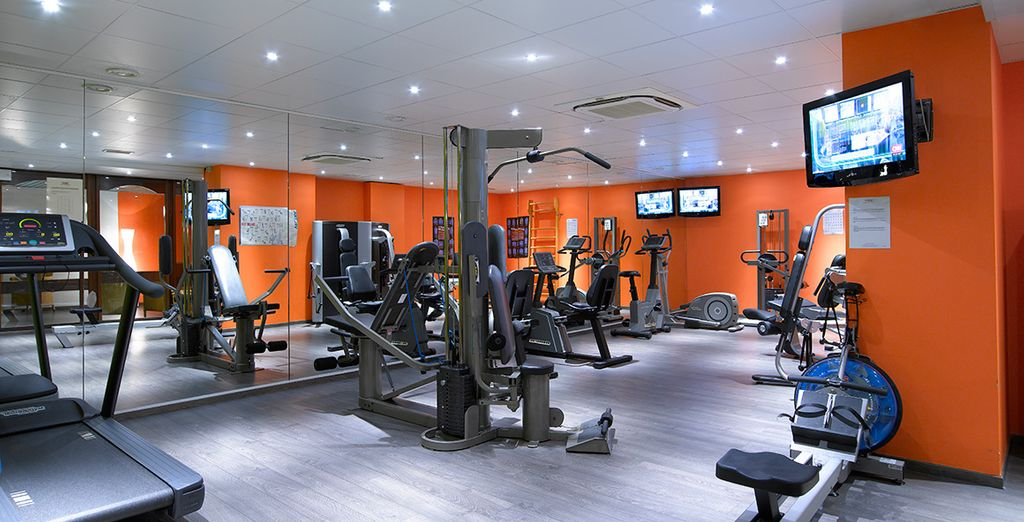 Finish your evening with a session at the gym