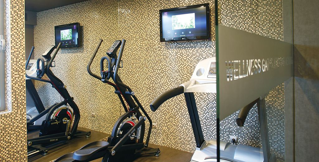 Keep fit in the hotel gym...