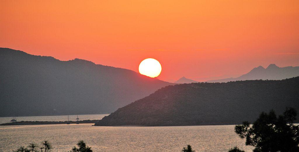 Witness a beautiful sunset