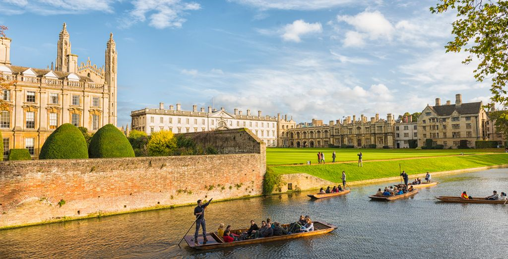 Visit the beautiful university town of Cambridge - just a 40 minute drive away!