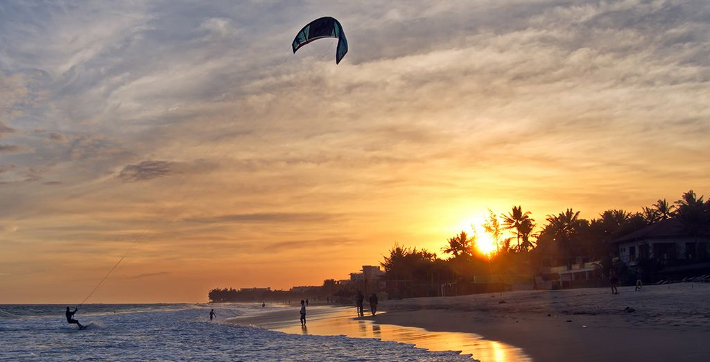 The area is famous for its excellent kite surfing conditions