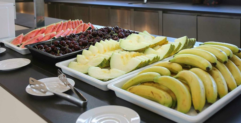 Choose from a range of options served buffet-style
