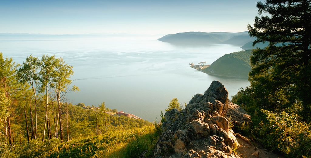 With breathtaking vistas at every turn (pictured: Lake Baikal)