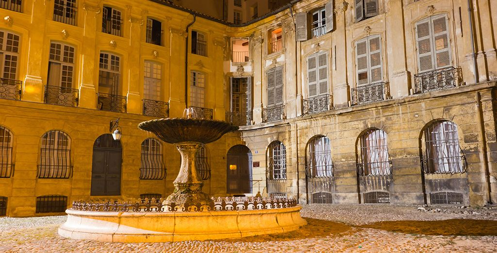 You will be staying in the romantic city of Aix-en-Provence