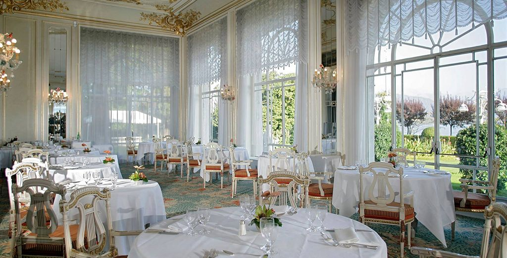 And a meal in the refined restaurant