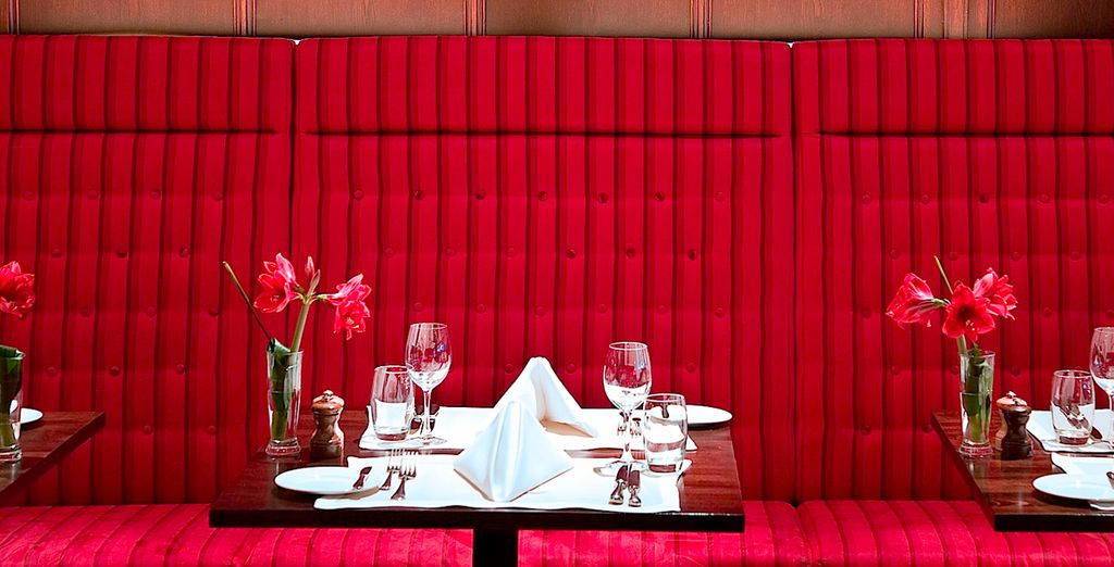 Then end your evening with a romantic dinner for two
