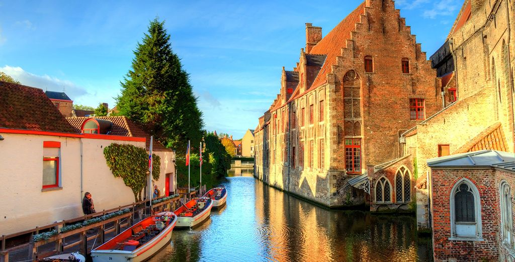 Head out and explore Bruges' charming waterways