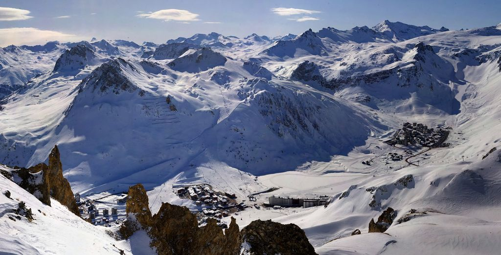 And you're just a few minutes from Val D'Isère