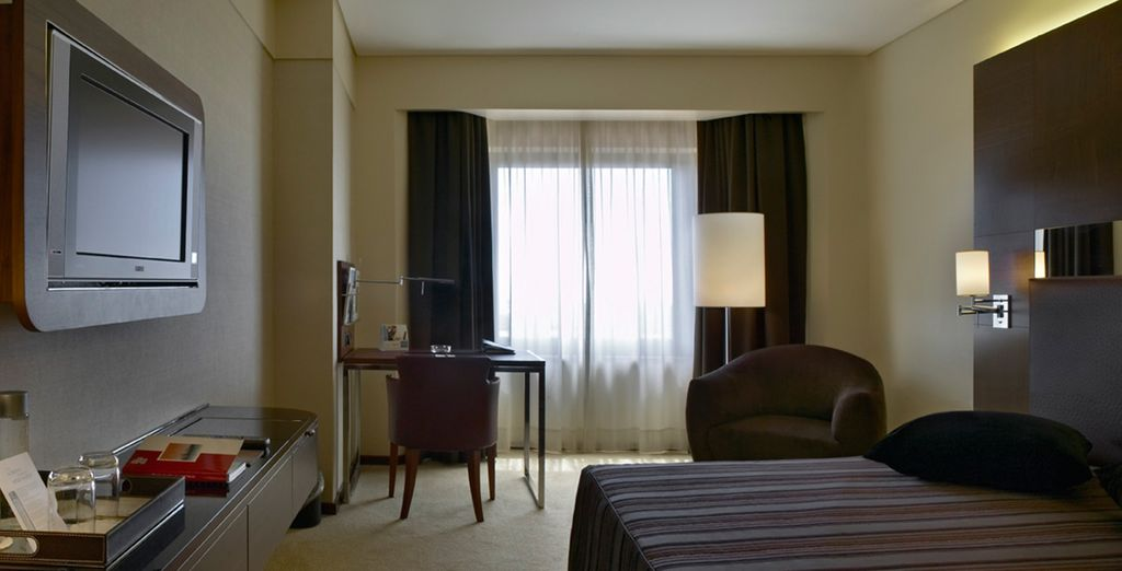 Stay in a spacious Executive Room