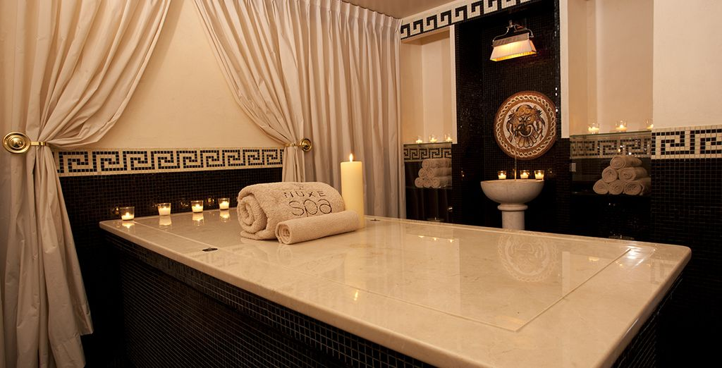 Then make your way to the hotel's palatial spa