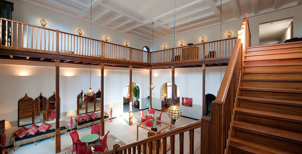 A luxurious hotel with Moorish influences