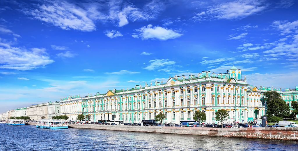 Go out and explore Russia's majestic sites like the Winter Palace
