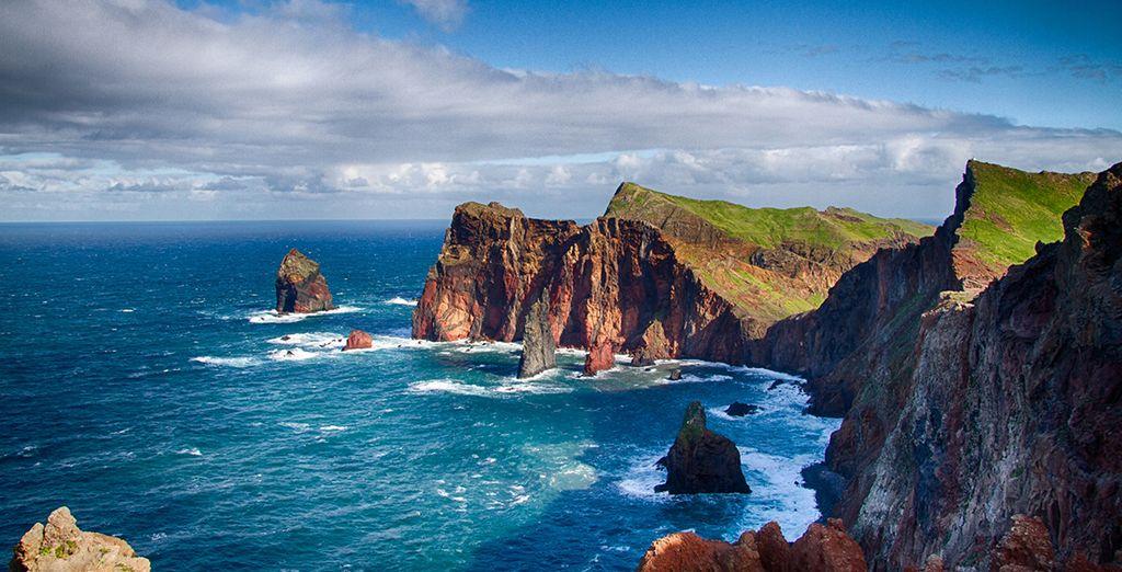 Set out to explore the island's dramatic coastline