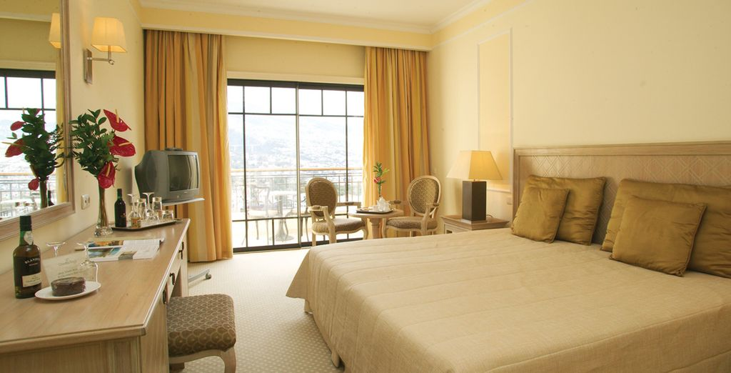 Stay in a Garden View Room or in a Panoramic View Room