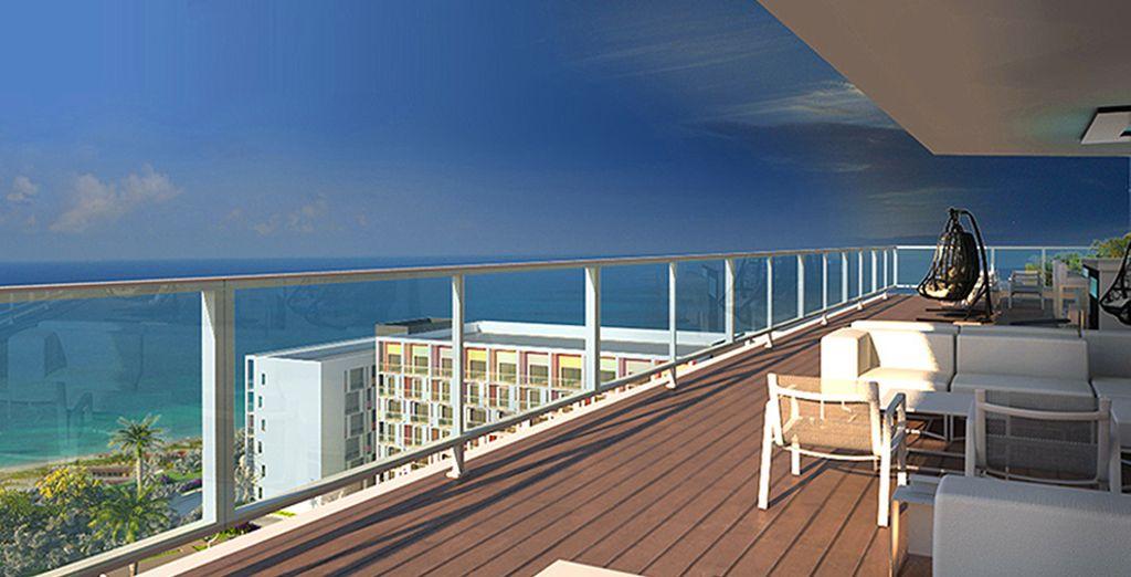 Soak up the sunshine and sea views