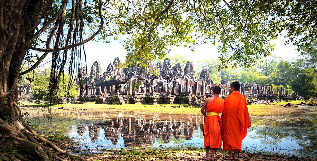 Visit iconic destinations such as Angkor in Cambodia