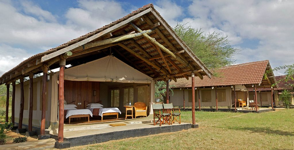 In authentic lodges (pictured: Aruba Lodge)