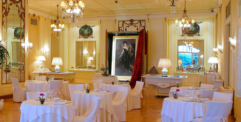 Take your breakfast in the grand dining room