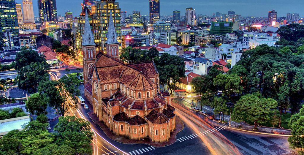 Start your journey in the energetic Ho Chi Minh City