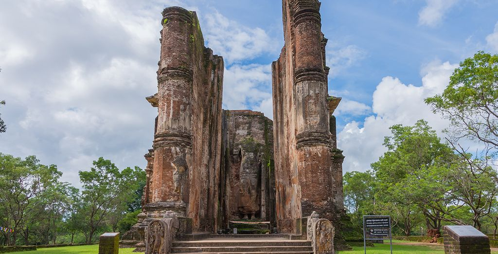Explore ancient Buddhist temples...