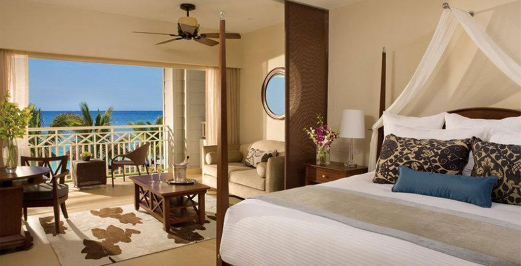 Stay in a Preferred Club Junior Suite Ocean View Swim Out