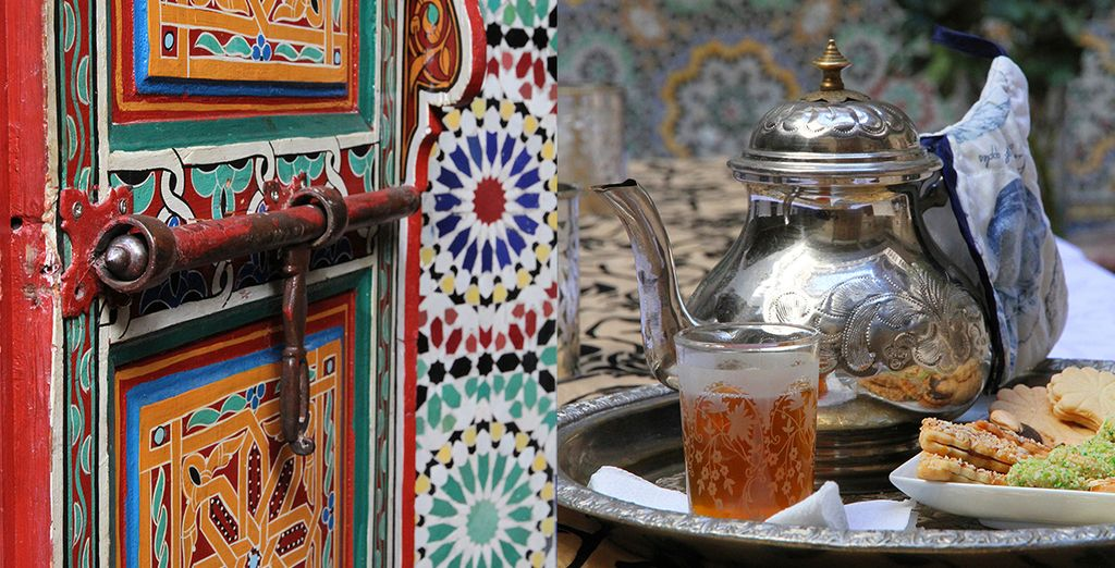 You will be welcomed by fresh mint tea