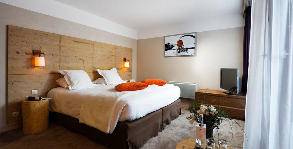 While your room boasts wonderful comforts