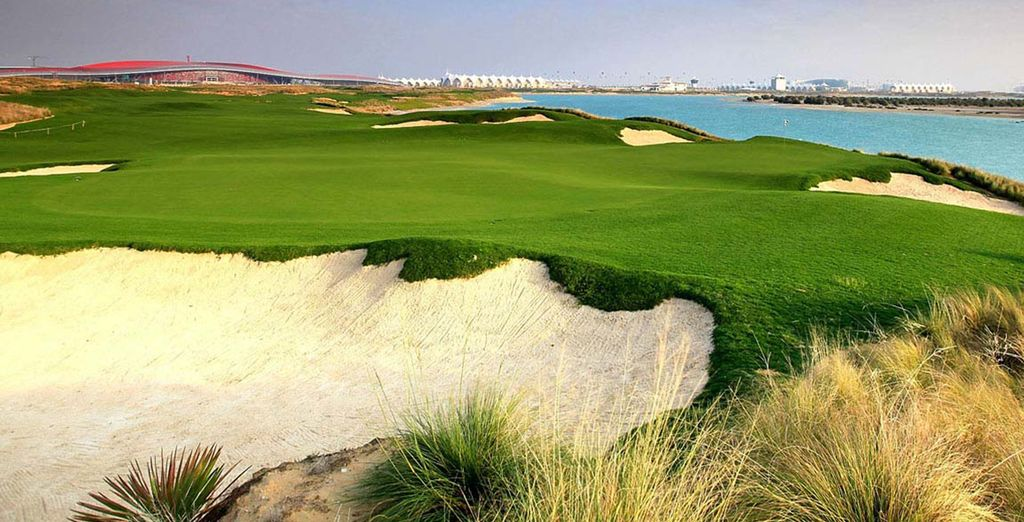 Practice your swing on the golf course...