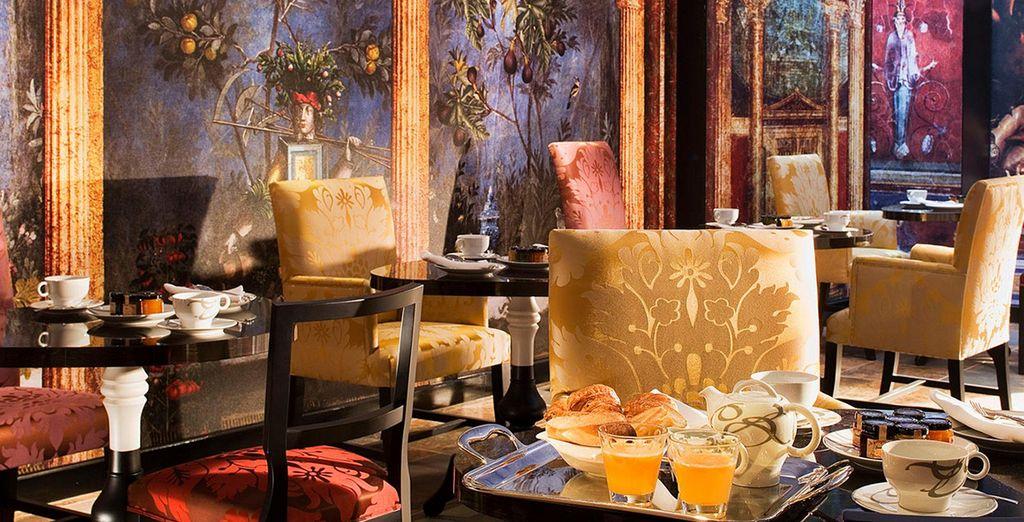 Tuck into your breakfast in decadent surroundings