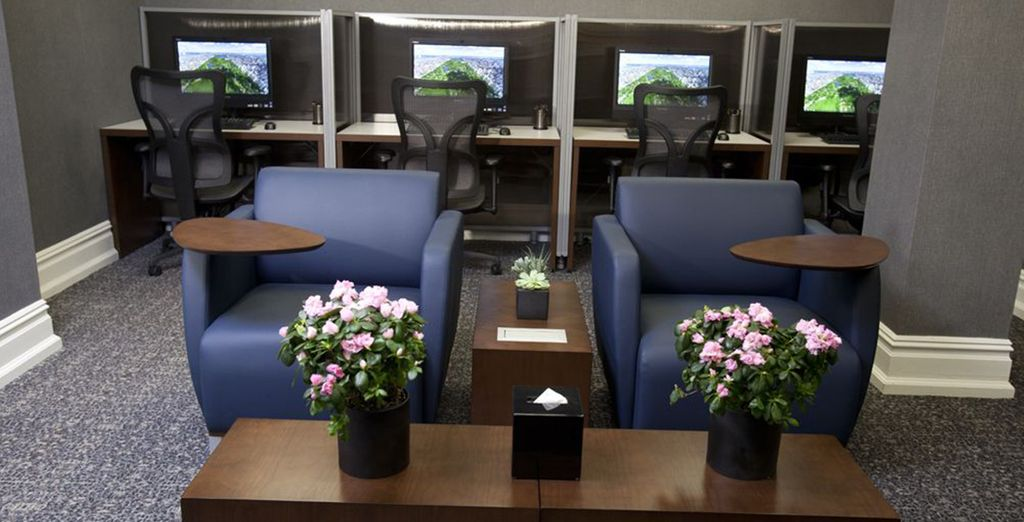 Check in with the office in the Business Centre