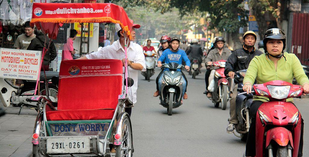 Begin your journey in energetic Hanoi, the atmospheric capital of Vietnam