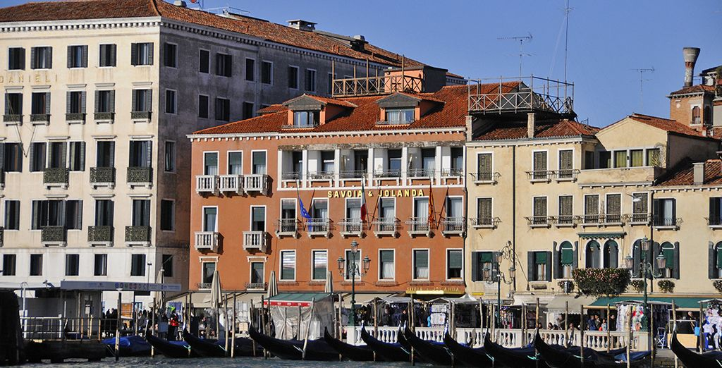 Live the Venetian Dream at Hotel Savoia & Jolanda, located right on the waterfron