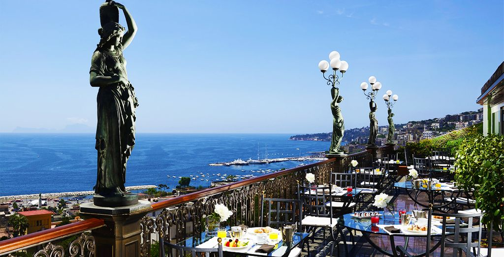 Eat breakfast on the terrace - where you can admire the stunning views