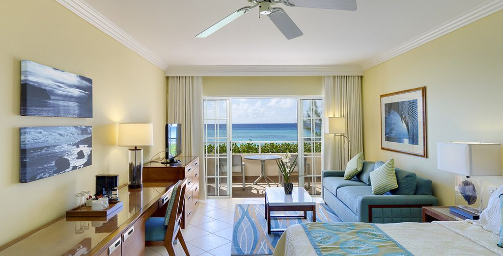 Our members will be staying in an Ocean Front Junior Suite